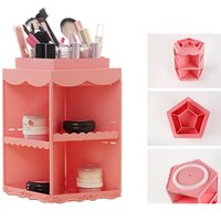 abs plactic - Plactic ABS Degree Rotating Cosmetic Organizer Perfume Bottle Skin Whitening Cleaning Smooth Milk Makeup Storage Box Beauty Women Gift