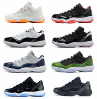 basketball - New Retro Low Basketball Shoes Bred Georgetown Space Jam Citrus GS Basketball Sneakers Women Men Low Cut Athletics Boots Retro XI