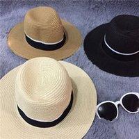 church hats fashion - 2015 Fashion Panama Sun Hats Cheap Unisex Men Women Trilby Gangster Cap Summer Beach Hats Straw Church Hats New