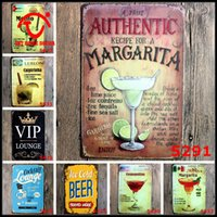 metal plaque - Beer Metal Sign VIP Plaque Drink Metal Tin Signs Vintage Wall Poster Shabby Chic Cocktail Metal Sign Home Decoration