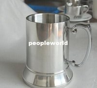 beer tankard metal - 36pcs High quality mirror OZ Double Wall Stainless Steel Tankard stainless steel beer mug