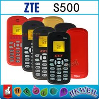 Wholesale Unlock Mini Cell Phone ZTE S500 English GSM900 Inch Screen Single Sim Card with FM