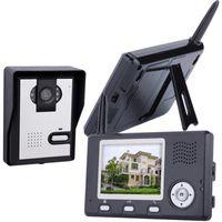 Wholesale 2 GHz Wireless Wifi Color Video Door Phone Monitor Intercom Home Security Doorbell Camera