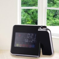 Cheap LS4G 2014 Fashion New Digital LCD LED Projector Alarm Clock Weather Station Thermometer Calendar