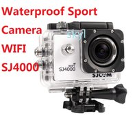 Wholesale Waterproofl SJ4000 Wifi SJCAM Action Camera GoPro Hero Style WIFI Support Extreme Camera G Senor Sport Camera DHL FREE Buy best
