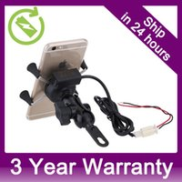 Wholesale Universal X Grip Rotating Motocycle Mount Motor Bike Cell Phone Holder with USB Charging Port Whole Sale order lt no track