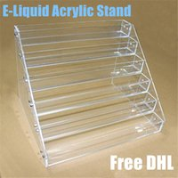 acrylic holder - acrylic ecig display showcase stand show shelf holder rack for ml ml ml ml e liquid eliquid e juice needle bottle DHL FREE
