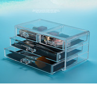 beauty jewelry storage - New Style Crystal Cosmetic Boxes Luxurious Transparent Women Crystal Cosmetic Boxes Jewelry Storage Boxes Women Like Beauty Tools