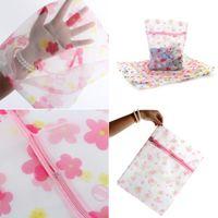 belt printing machine - 3 Sizes Underwear Bra Socks Laundry Washing Machine Flower Printed Zipper Mesh Bag