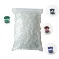 Wholesale 1000pcs Transparent Tattoo Ink Cups pigment Wide Cup Size