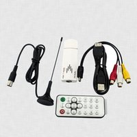 Wholesale Global Analog Tv Tuner Usb TV Receiver For Pc Computer DVD VCD With Antenna Cable Remote Controller UATS01G K60