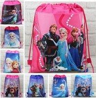 backpacks favors - 15pcs new style children s Non woven backpack froze n princess Elsa Anna School bag Party Favors design CC08