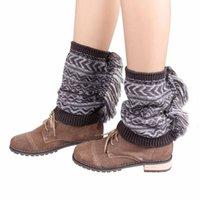 amazing boot - Amazing Fashion Women Knit Winter Jacquard Tassel Leg Warmers Boots Socks for Winter