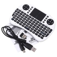 Wholesale Rii i8 Mini Wireless Keyboard Fly Air Mouse Combo Multi media Remote Control Touchpad Handheld Chargeable Keyboard for TV BOX Tablet PC