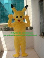 big eye costumes - Endearing Yellow Pikachu Pocket Monster Mascot Costume With Long Ears Watery Black Bright Big Eyes Small Nose No Free Ship