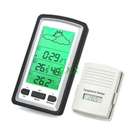 Cheap indoor outdoor wireless rain meter thermometer humidity sensor rain gauge Weather Station temperature recorder free shipping