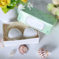 bath sea - Wedding Favors Creative Sea Shell Shape Scented Soaps For Guest Gifts Baby Shower Soaps Handmade Soap box