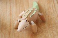Wholesale Anamalz Maple Wood Moveable Animals Toy Farm Animal Wooden Zoo Baby Educational Toys cm