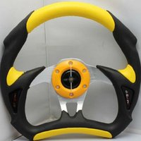 Wholesale PVC modified car steering wheel racing steering wheel yellow black blue red silver