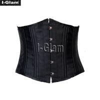 Wholesale I Glam Sexy Underbust Steel Boned Corset Heavy Duty Bustier Black Brown Khaki White CO