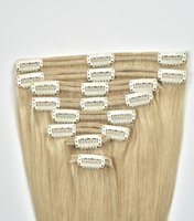 Wholesale 20 quot dark dark brown color human hair extension double machine layer pieces clip in hair extension