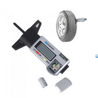 Wholesale High quality Silver New LCD V car Digital Tyre Depth Gauge Check Tester Measuring Tool Truck Tyre Tread Pad Shoe order lt no tracking