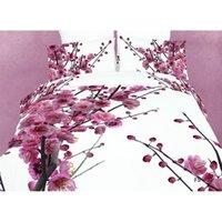queen size bedding set - 3D Plum Blossom Pattern Cotton Four Bedding Set Reactive Dye Queen Size Comforter Set FS