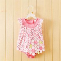 Wholesale 2015 Summer Style baby girl Rompers For Baby girl Clothes Cotton Brand Female Baby Rompers Babies Clothing Dress For Girls