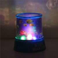 Wholesale New Bright Auto Rotate LED Ocean Night Projector Lamp Light With Music Home Decor order lt no track