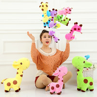Wholesale 2016 Hot Sale Giraffe Plush Toy Stuffed Animals Doll Birthday Gift Prize color cm cm cm