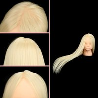 Wholesale Makeup Practice Dummy Head With Long Fake Hair Fake Head Model For Makeup Training order lt no track