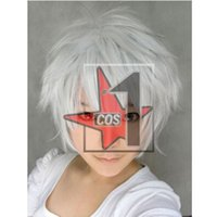 bee wig - Hot sell Bleach Hollow Kurosaki Ichigo Cosplay Wigs GINTAMA Letter Bee Cosplay Wig Silver white Hairpiece CN0046