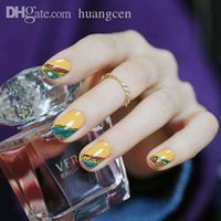 art visions - Fashion French with wave vision style of Design Tip Nail Art Nail Sticker Nail Decal Manicure Mix Color nail tools