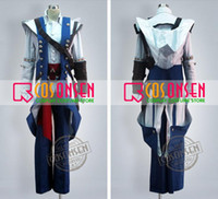 Wholesale Assassin s Creed Connor Conner Kenway Altair Ezio Hoodie Jacket Outfit Coat Cosplay Costume Custom made any size