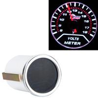 Wholesale Universal Car Voltage Meter Gauge quot mm V Motor Smoke Lens Indicator White Auto Voltemter LED Display Indicator