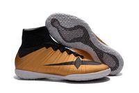 chaussures d'intérieur TF de football New 2016 argent plat Mercurial Gris Magista bottes Obra Crampons Phantom Prime TF soccer
