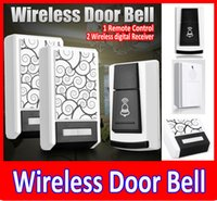 Wholesale New Wireless Door Bell Remote Control Wireless digital Receiver Doorbell Chimes Songs Waterproof Wireless Doorbell