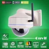 Cheap 2pcs H264 Onvif Sony Sensor 2.0 Megapixel HD Wireless WIFI Network IP Camera 1080P Outdoor Vandalproof Dome Security CCTV Camera