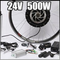 Wholesale E bike V W Motor with Disc Brakes hub Electric Bicycle Ebike conversion Kit front or rear wheel new Details about