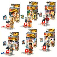 Wholesale New Crystal transparent Star Wars Building Blocks Styles Star Wars Star Soldier DIY Bricks Toys B001