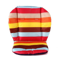 baby pram umbrella - 5pcs Rainbow Color Soft Thick Pram Cushion Chair BB Car Umbrella Cart Seat Pad Cotton Striped Liner Infant Stroller Mat For Baby Kids