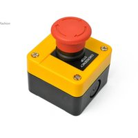 Wholesale Red Sign Emergency Stop Push Button Switch V