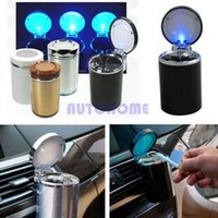 Wholesale 120 X Car LED Light Ashtray Cup N1 Movable Ashtray Auto Travel Cigarette Ash Holder order lt no track