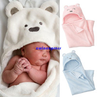 Wholesale Cute Newborn Baby sleeping bags Girls Boys swaddle sleep sack cotton blanket Candle Wrap Clothes litter bear design