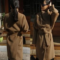 beautiful coat buttons - Hot Selling Cheap Wool Outerwear Coats With Batwing Sleeve Black Women s Beautiful Capes Wool Blend Coat Dolman Sleeve Jacket Cloak