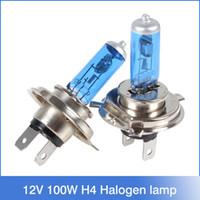 Automobiles lampe Motorcycle Phare H4 Halogène 12V 100W SUPER WHITE phares de voiture de lumière halogène ampoules livraison gratuite