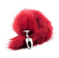 adult red fox - Red Fox Tail Metal Anal Plug Adult Toys Sex Toys For Woman Anal Butt Plug Tail Beads Sex Products Shop Special Erotic Toys