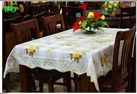 table cloth - Pastoral style Home decoration High qulity PVC amp Flannel Table Cloth Waterproof Ati oil flower137 CM