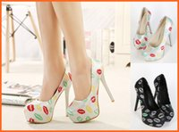 mary jane - Printed Womens High Heels Hidden Platform Faux Leather Womens Pumps Mary Jane Stilettos Evening Prom Shoes Wholesales a58
