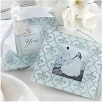 Wholesale Wedding supplies wedding gift ideas European and American glass wedding coasters